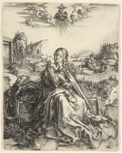 Dürer Engraving: The Virgin with the Dragonfly