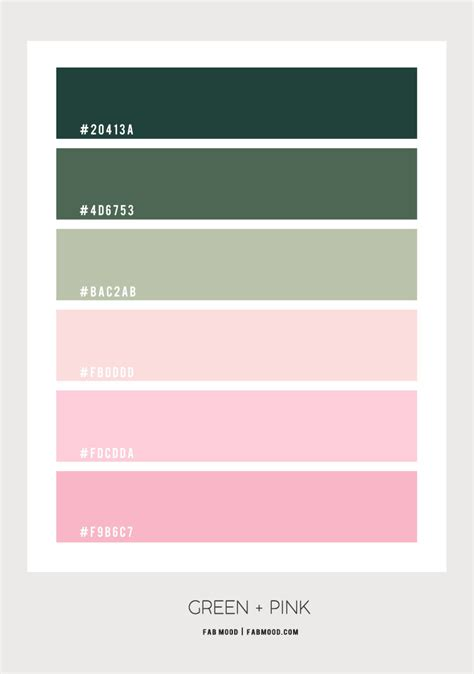 Green and Pink Color Scheme – Color Palette #59 1 - Fab