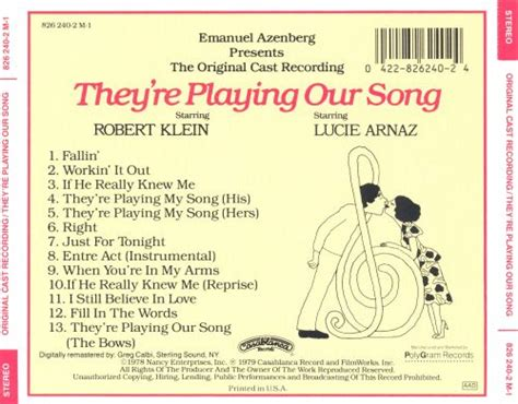 They're Playing Our Song [Original Cast] - Original Cast