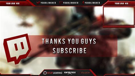 Twitch Overlay Banner Template livestream Free PSD 2014