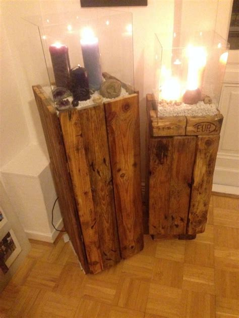 Side cabinet, Wind Light made of Pallets: second attempt
