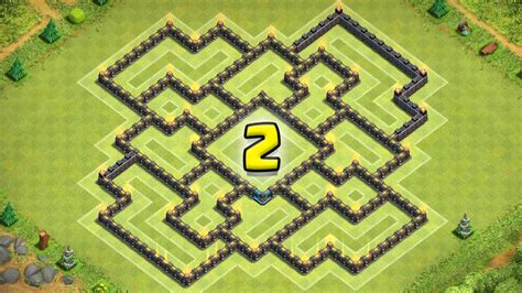 """Clash Of Clans """"NEW UPDATE!"""" TH9 War Base / CoC TH9 Trophy"""