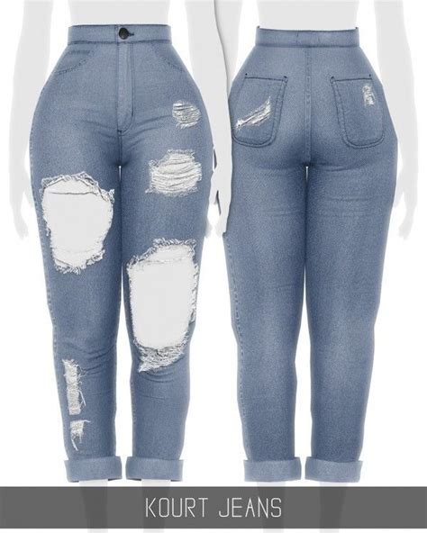 Simpliciaty - Kourt Jeans for The Sims 4 (avec images