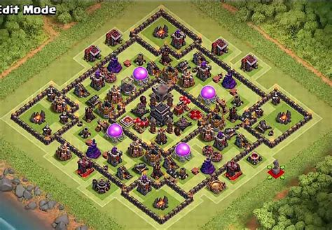 12+ Best TH9 Hybrid Bases With Bomb Tower 2017 - Cocbases