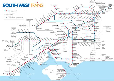 Map of London commuter rail: stations & lines