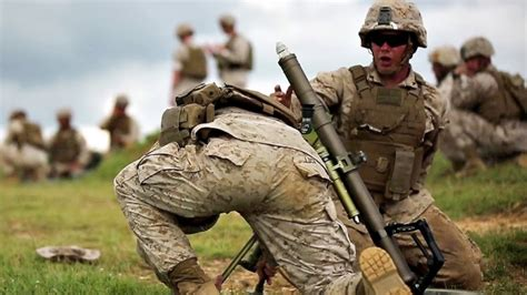 How Marines Mortar Team Shoot And Eliminate Enemy - YouTube