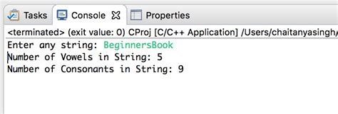 C Program to Count Vowels and Consonants in a String using
