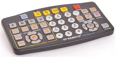 Large Button Videophone Remote Control