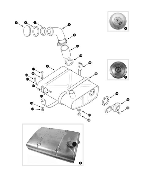 Parts for MGB • Fuel tank - to March 1965 - Limora Oldtimer