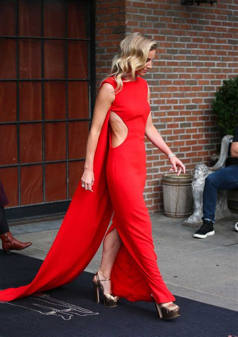Annabelle Wallis in a Red Dress Leaves the Bowery Hotel in