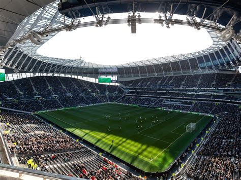 Tottenham players train at new stadium for first time