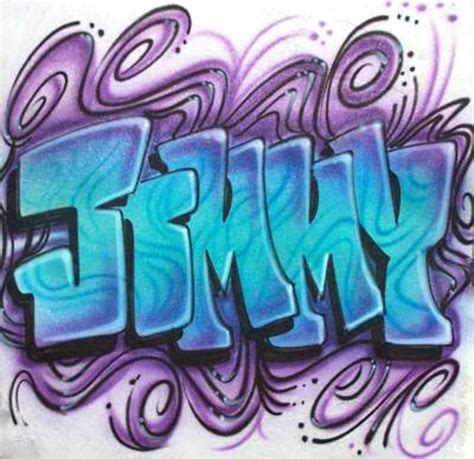 Single Name & Graffiti Styles For Your Airbrushed Shirt